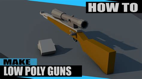 How To Make Very Low Poly Guns In C4d Youtube