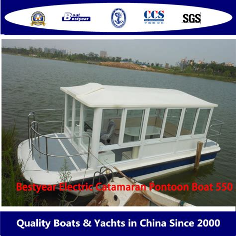 Catamaran Electric Engine by China Electric Catamaran Pontoon Boat 550 China Boat