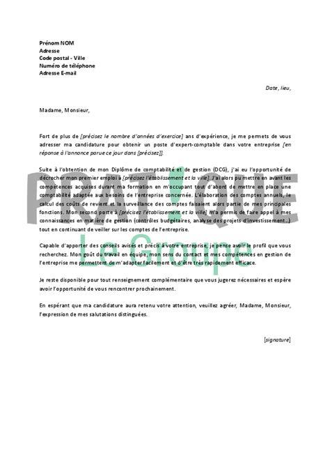 lettre de motivation pour un emploi d expert comptable confirm 233 pratique fr