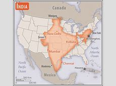 Size of India compared to United States Maps Pinterest