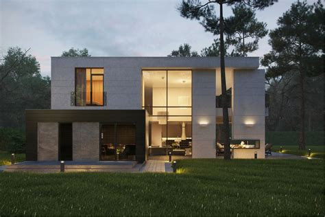 Modern Houses : Modern Home Exteriors With Stunning Outdoor Spaces