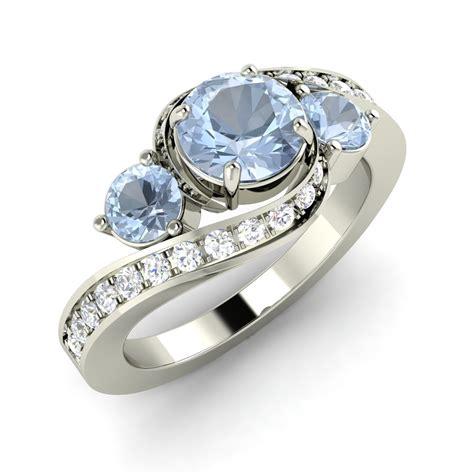 Natural Aquamarine Sidestone Engagement Ring With. Arabic Engagement Rings. Brown Engagement Rings. Genuine Turquoise Stud Earrings. Gia Diamond. Silver Jewelry. Quote Watches. Warehouse Pendant. 2 5 Carat Diamond