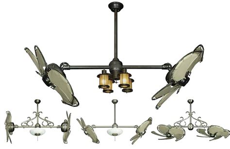 dual ceiling fans with lights best home design 2018