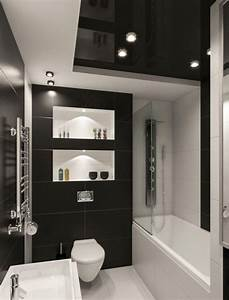 Kleines Bad Fliesen Ideen : kleines badezimmer fliesen ideen schwarz weiss kombination matt bad pinterest bath ~ Markanthonyermac.com Haus und Dekorationen