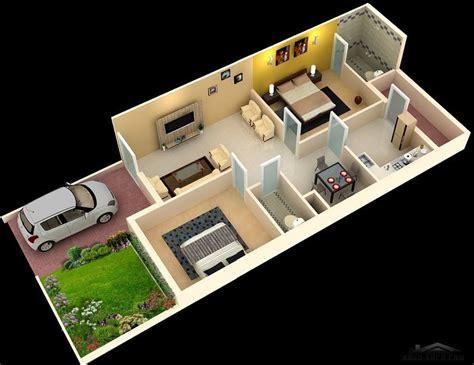 Home Decor 3d Models : خريطة بيت صغير المساحه دور واحد 72 متر مربع