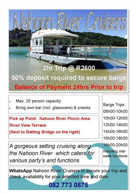 Boat Cruise East London Nahoon by Nahoon River Cruises Home Facebook