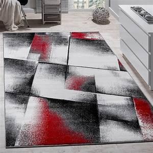 Teppich Wohnzimmer Grau : designer teppich modern wohnzimmer teppiche kurzflor meliert rot grau schwarz wohn und ~ Markanthonyermac.com Haus und Dekorationen
