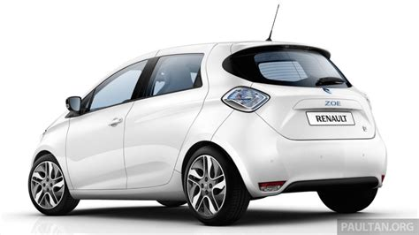 renault zoe electric vehicle now available in malaysia from rm146k 210 km range 87 hp and 220