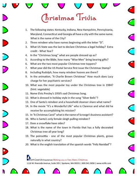 25+ Best Ideas About Christmas Trivia On Pinterest  Christmas Trivia Questions, Christmas