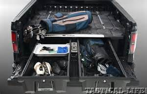 decked truck bed storage system