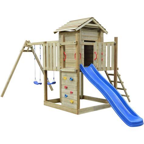aire de jeux avec balancoire cirque et balancoire