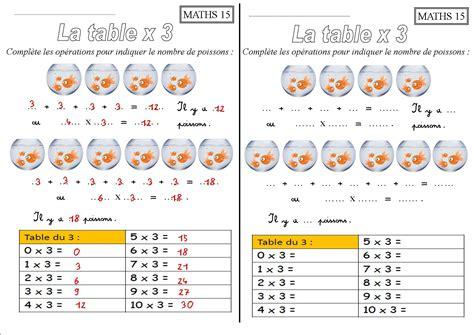 exercice de table de multiplication 2 3 4 5 6 images des math 233 matiquescm calcul chrono bout de
