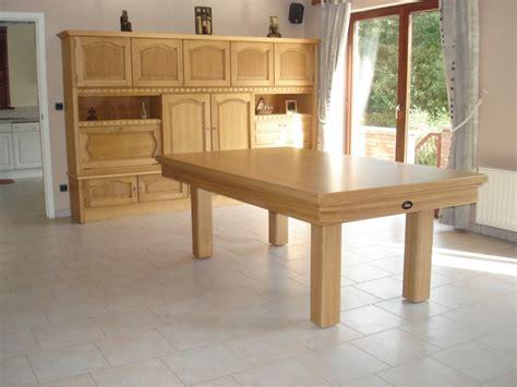photo billard table billard transformable en table de salle a manger en chene massif version