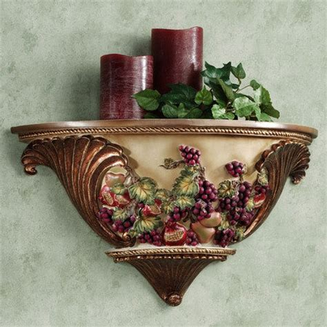 Grape Accessories For Kitchen by Wall Shelf Tuscan Decor For My Kitchen