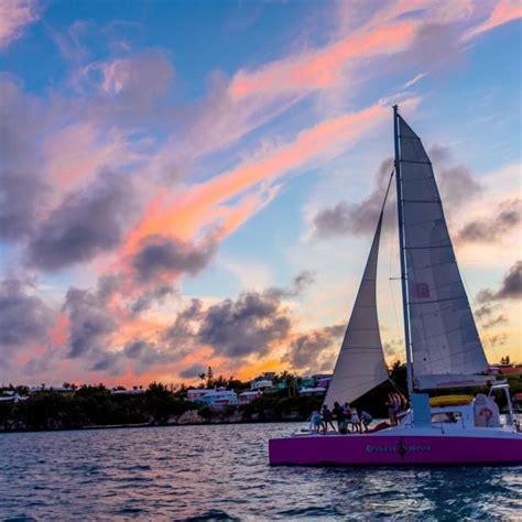 Catamaran In Bermuda by Sunset Catamaran Sail Shore Excursion In King S Wharf Bermuda