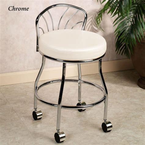 bathroom ideas chrome metal based vanity chair with