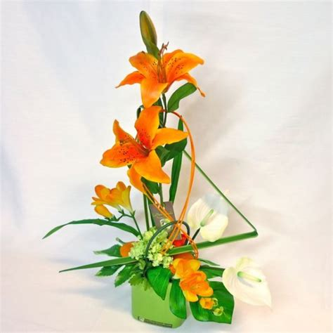 artificial silk flowers arrangement modern and design decoration and gift