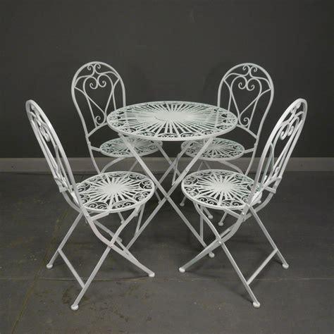 salon de jardin en fer forg 233 blanc table chaise banc