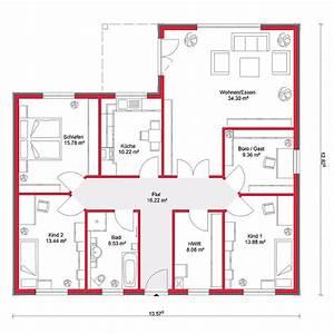 Grundriss Bungalow 100 Qm : grundrisse bungalow 130 qm ~ Markanthonyermac.com Haus und Dekorationen