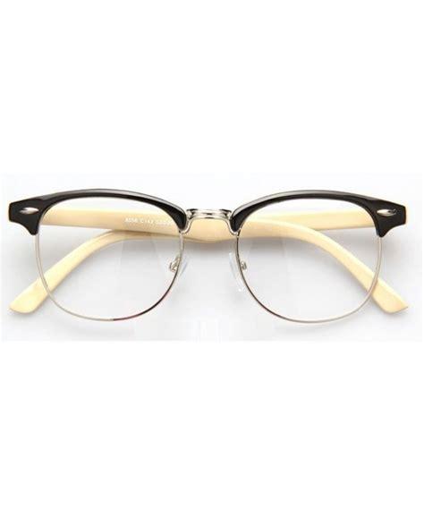 lunettes sans correction style clubmaster beige