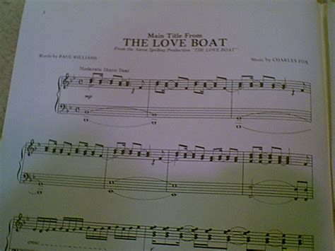 Music For Love Boat Theme by Love Boat 1977 Theme Sheet Music Signed Gavin Macleod