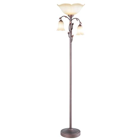 Rubbed Bronze Torchiere Floor L by Shop Allen Roth Eastview 72 4 In Rubbed Bronze