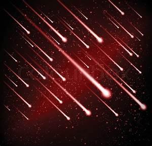 Comet meteor shower vector background | Stock Vector ...