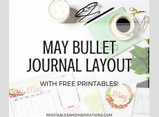 May Bullet Journal Spread Free Printables! Printables