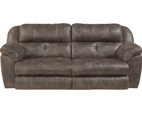 catnapper ferrington power headrest power lay flat reclining sofa dusk cn 61891 dusk at