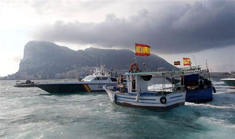 Boat In The Water In Spanish by Gibraltar Spanish Incursions Into British Waters Are