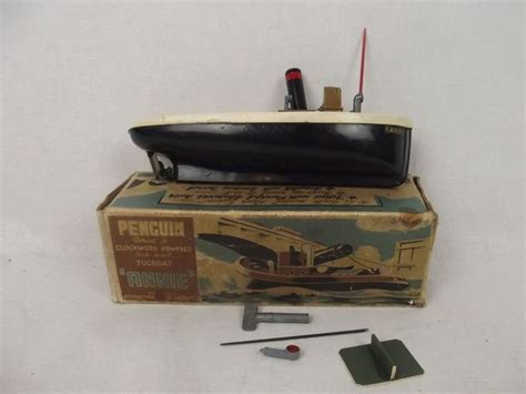 Fast Lane Rc Boat Wave Chaser by 1950 S Penguin Toys Scale Model Series 4 Clockwork Tug