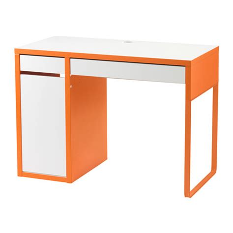 micke bureau blanc orange ikea