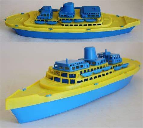 Toy Ships And Boats by Very Rare 70 S Plastic Cruise Ship Boat 1 Made In Greece
