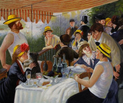Luncheon Of The Boating Party By Pierre Auguste Renoir Analysis by Auguste Renoir Oil Paintings Reproductions Cheap And