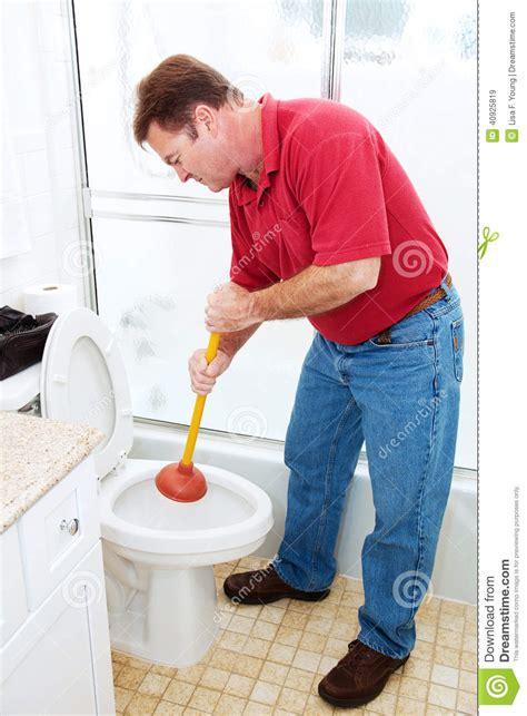 plunging toilet stock photo image 40925819