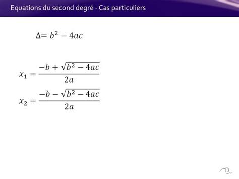 equations du second degrand 233 cas particuliers on vimeo