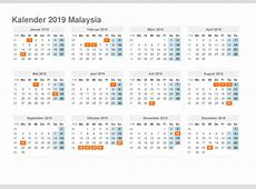 Printable Yearly Calendar 2019 with Malaysia Holidays Free