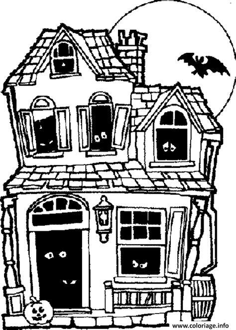 coloriage maison hantee dessin
