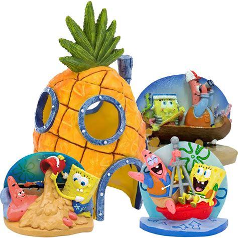 spongebob aquarium ornament set healthypets