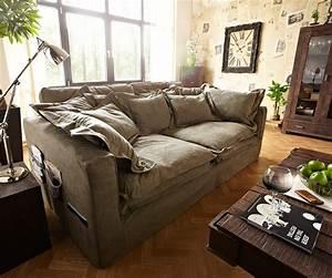 Big Sofa 240 Breit : hussensofa noelia 240x145 cm braun couch mit kissen m bel sofas big sofas ~ Markanthonyermac.com Haus und Dekorationen