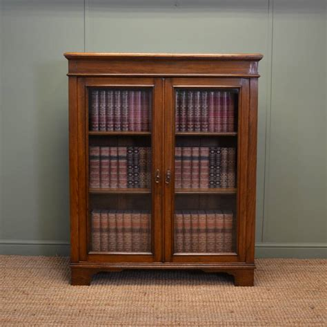 Quality Antique Victorian Oak Glazed Bookcase  Antiques World
