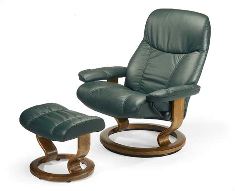 stressless by ekornes stressless recliners consul large reclining chair and ottoman dunk