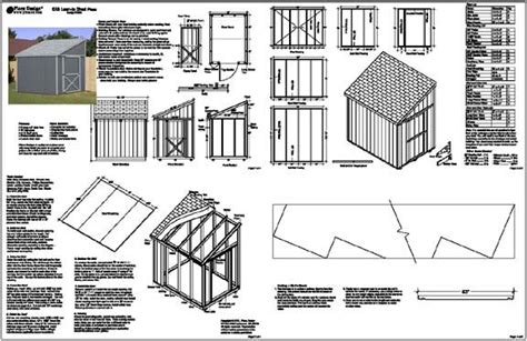 selapa complete lean to shed plans 8x12