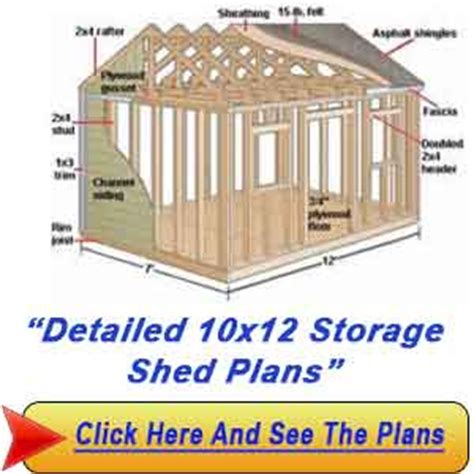 10x12 storage shed plans 10 215 12 lean to storage shed plans how to construct a