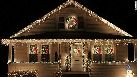 Beautiful Christmas Lights On Houses  Happy Holidays