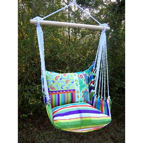 magnolia casual dandy hammock chair with pillow set