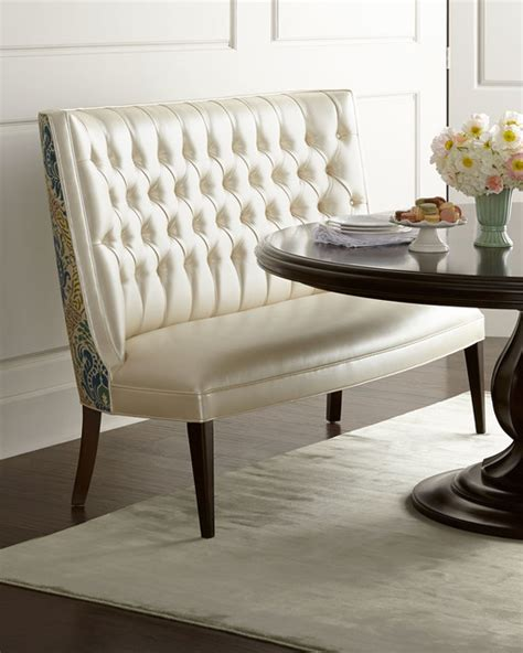banquette white contemporary dining chairs