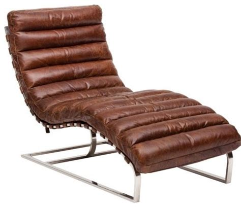 oviedo leather lounge vintage cigar high fashion home eclectic chaise longue by high
