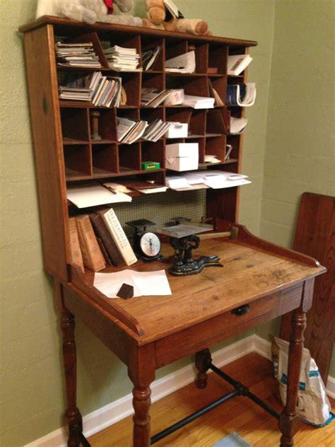 Antique Post Office Desk  Antique Furniture. Wooden Farm Table. Shell Help Desk. Underbed Drawer. Small Corner Desks For Home Office. Solid Pine Desk. Antique End Tables. Used Restaurant Tables. Richelieu Drawer Pulls