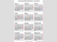 Calendario de Colombia 2019 Imprimir el PDF Gratis